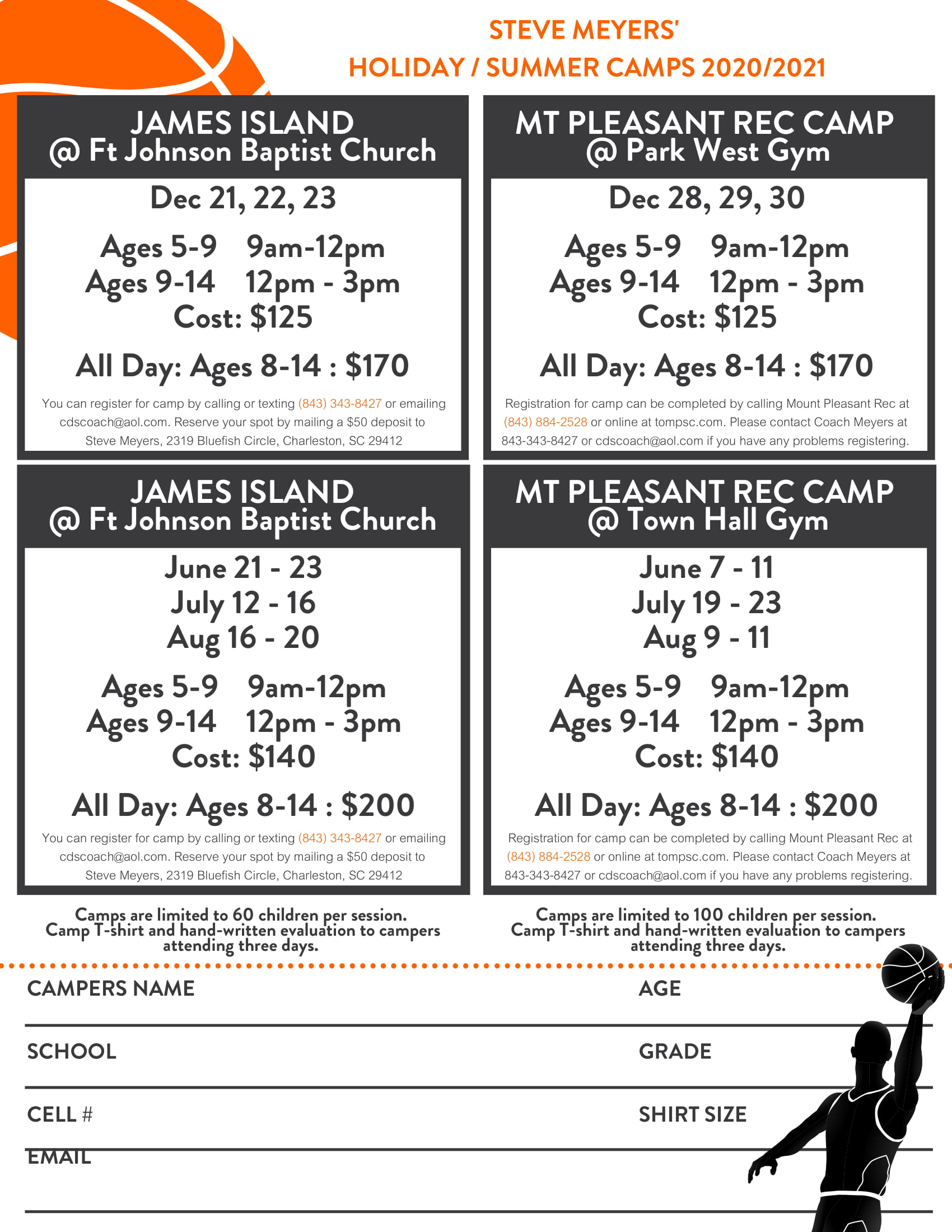 Meyers Spring & Summer Camp Flyer 21